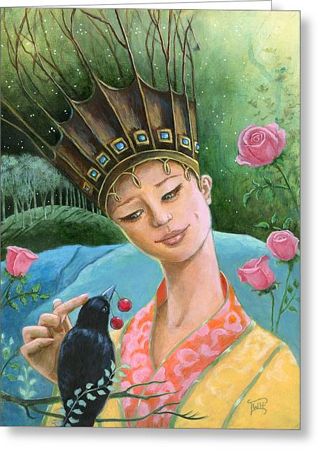 The Princess And The Crow Greeting Card