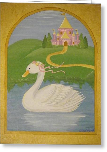 The Princess Swan Greeting Card