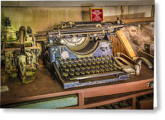 The Print Shoppe Greeting Card by Debra and Dave Vanderlaan