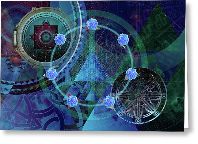 Greeting Card featuring the digital art The Prism Of Time by Kenneth Armand Johnson