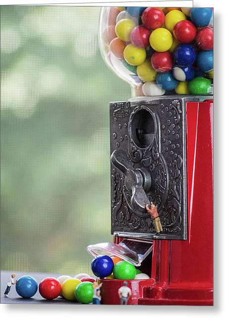 The Problem With Gumball Machines Greeting Card