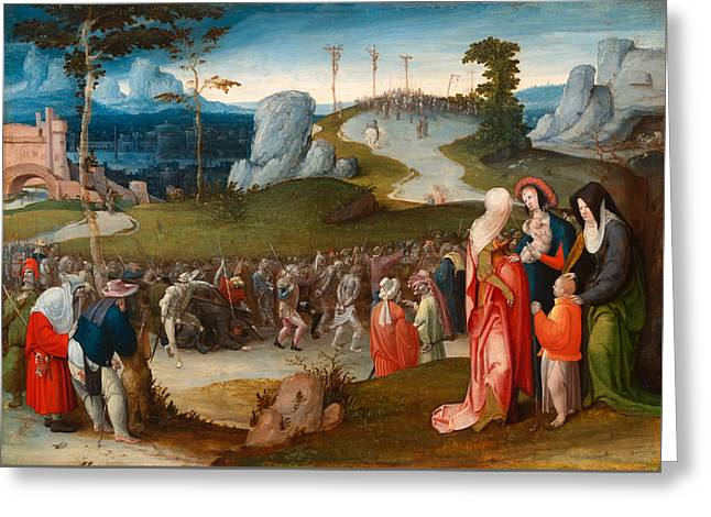 The Procession To Calvary Greeting Card by Mountain Dreams