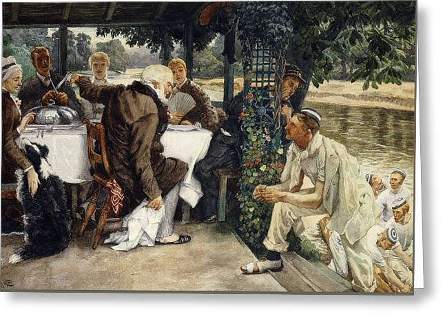 The Prodigal Son In Modern Life  The Fatted Calf Greeting Card by James Jacques Joseph Tissot