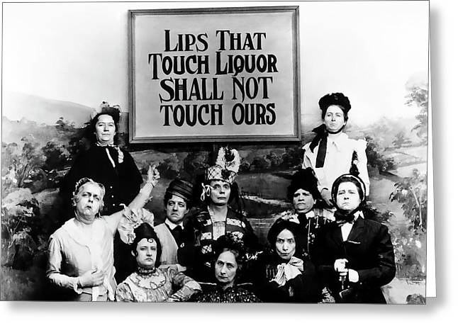 The Prohibition Temperance League 1920 Greeting Card by Daniel Hagerman