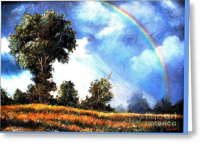 Greeting Card featuring the painting The Promise  by Hazel Holland
