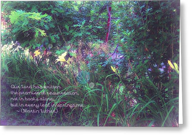The Promise Spring Brings Greeting Card by ARTography by Pamela Smale Williams
