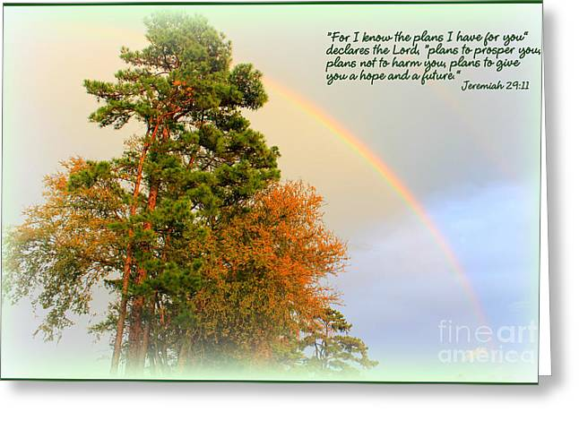 The Promises Of God Greeting Card by Kathy  White
