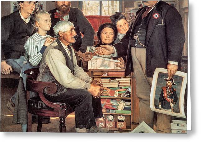 The Propaganda Campain 1889 Greeting Card by Eugene Buland