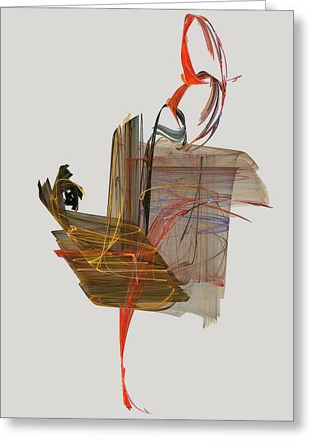 The Proud Rooster Greeting Card by Jackie Mueller-Jones