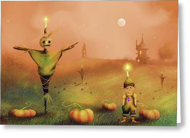 The Pumpkin Thief Greeting Card