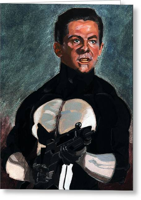 The Punisher In Pulp Greeting Card