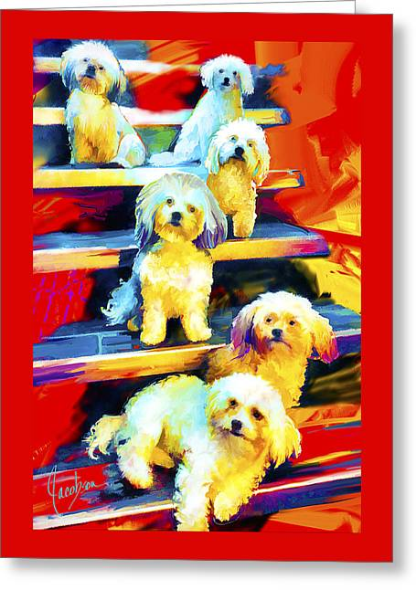 The Puppy Pack Greeting Card