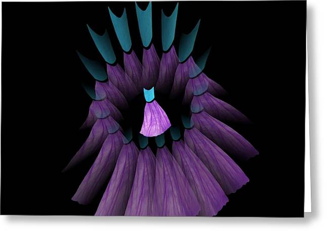 The Purple And Teal Dream Circle Of Wise Women Greeting Card by Jacqueline Migell