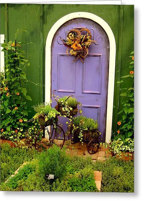 The Purple Door Greeting Card
