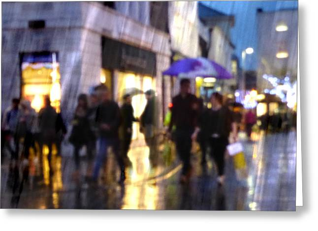 Greeting Card featuring the photograph The Purple Umbrella by LemonArt Photography