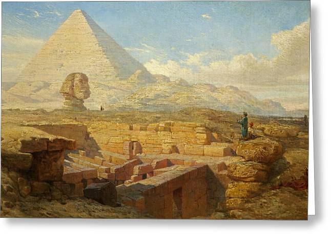 The Pyramids Greeting Card by William James Muller