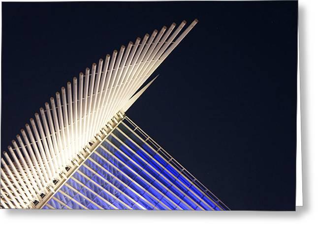 Quadracci Pavilion At Night Greeting Card