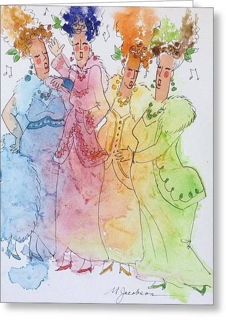The Quartet Greeting Card by Marilyn Jacobson