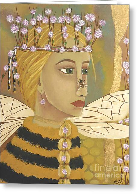 The Queen Bee's Honeycomb Greeting Card