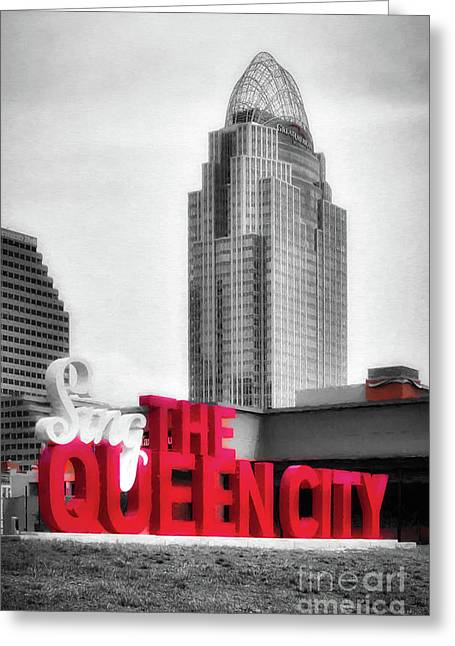 The Queen City Selective Color Greeting Card