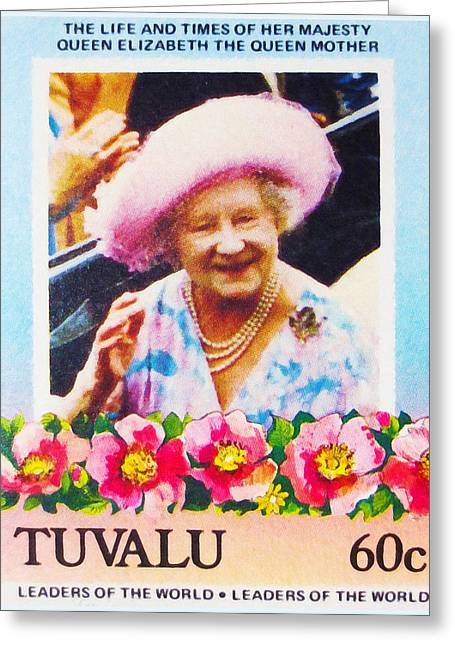 The Queen Mother Greeting Card by Lanjee Chee