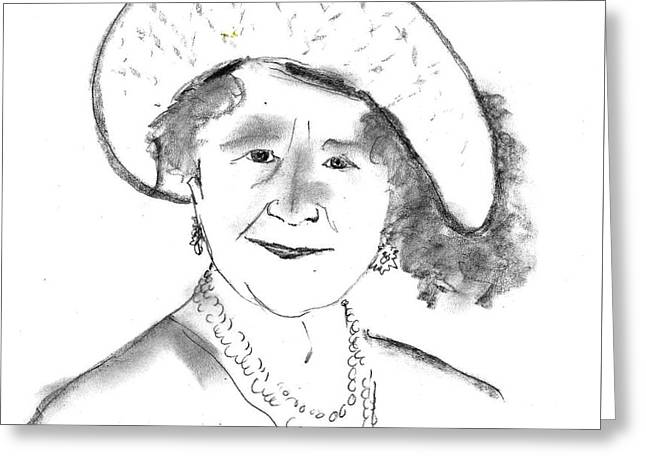 The Queen Mum Greeting Card