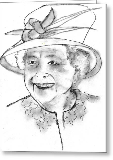 The Queen Of Hats Greeting Card