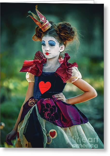 The Queen Of Hearts Alice In Wonderland Greeting Card