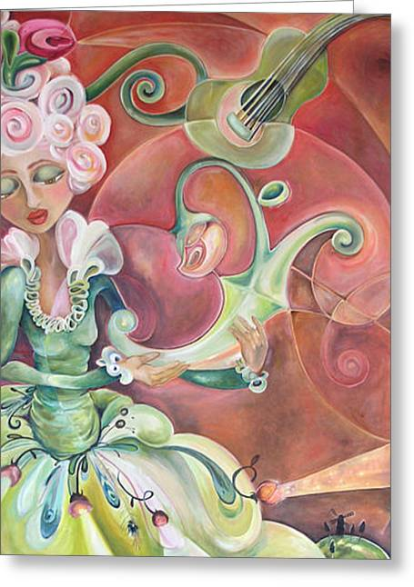 The Queens Sculpture Greeting Card by Jenna Fournier