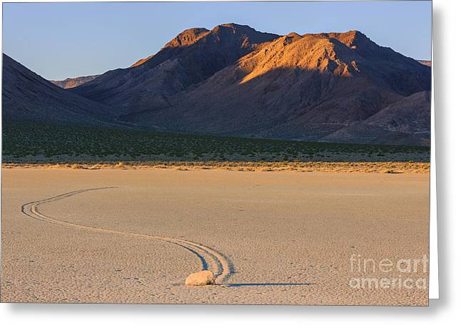 The Racetrack In Death Valley National Park Greeting Card by Henk Meijer Photography
