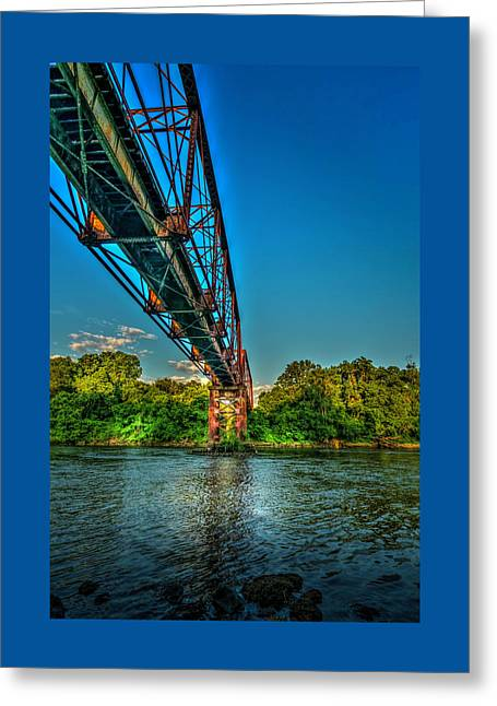 The Rail Bridge Greeting Card by Marvin Spates