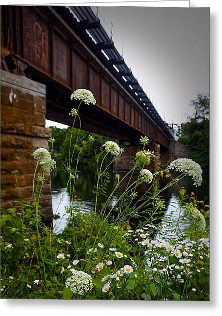 The Railroad Bridge Greeting Card