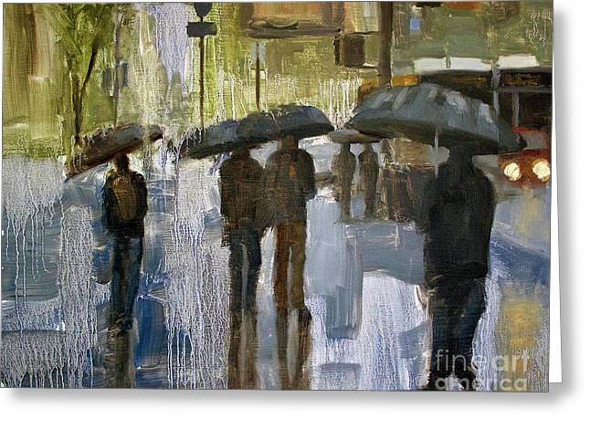 The Rain Came Greeting Card