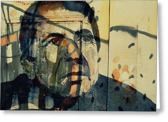 The Rain Falls Down On Last Years Man  Greeting Card by Paul Lovering