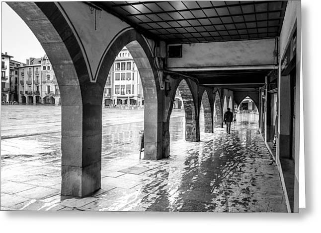 The Rain In Spain Monochrome Greeting Card