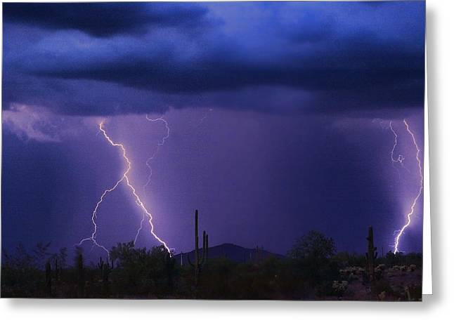 Arizona Lightning Greeting Cards - The Rain is Coming Greeting Card by James BO  Insogna