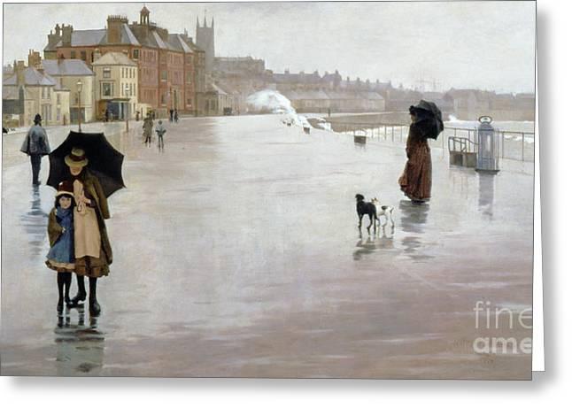 The Rain It Raineth Every Day Greeting Card by Norman Garstin