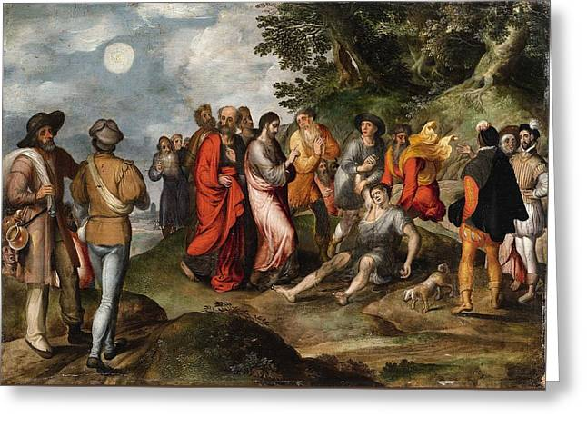 The Raising Of Lazarus Greeting Card by MotionAge Designs