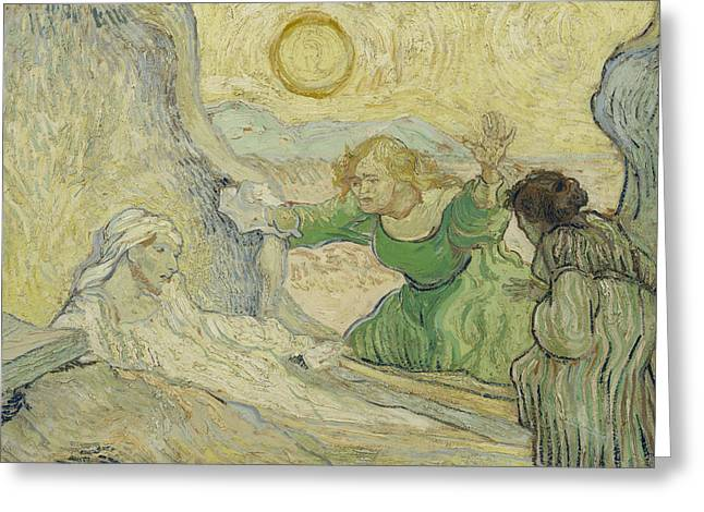 The Raising Of Lazarus Greeting Card by Vincent van Gogh