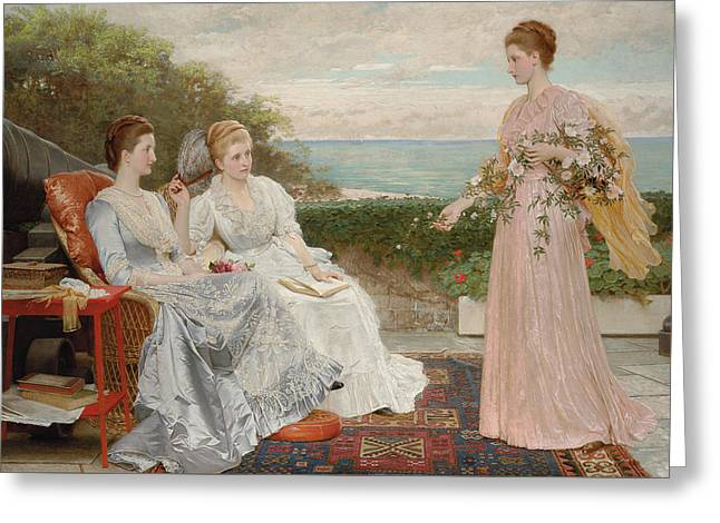 The Ramparts Greeting Card by Charles Edward Perugini