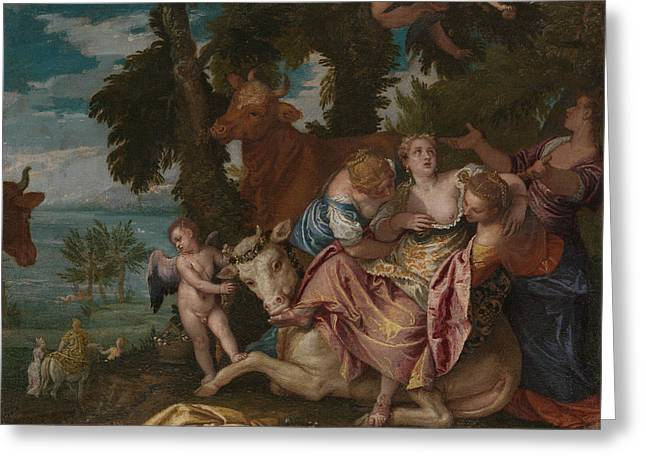 The Rape Of Europa Greeting Card by Paolo Veronese