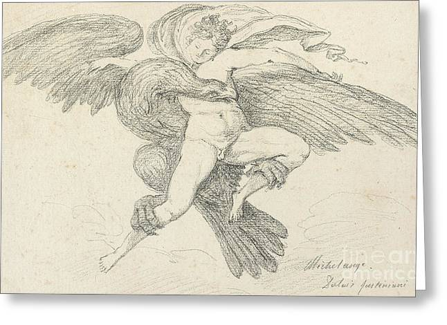 The Rape Of Ganymede Greeting Card