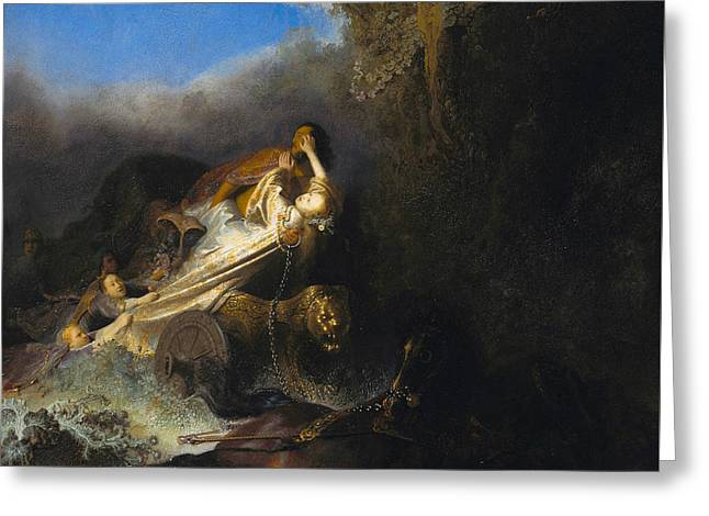 The Rape Of Proserpine  Greeting Card by Rembrandt
