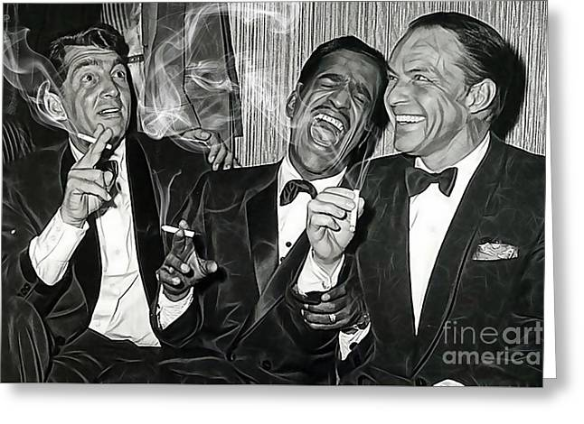 The Rat Pack Collection Greeting Card by Marvin Blaine