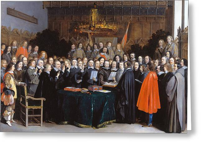 The Ratification Of The Treaty Of Munster, 15 May 1648 Greeting Card