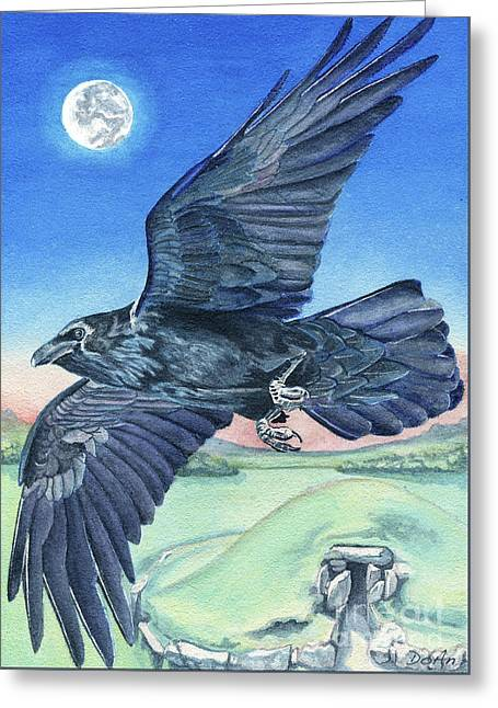 The Raven  Greeting Card by Antony Galbraith