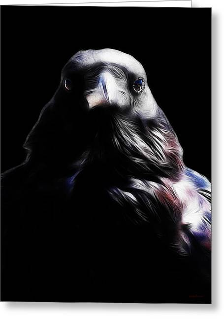 The Raven In My Dreams Greeting Card by Wingsdomain Art and Photography