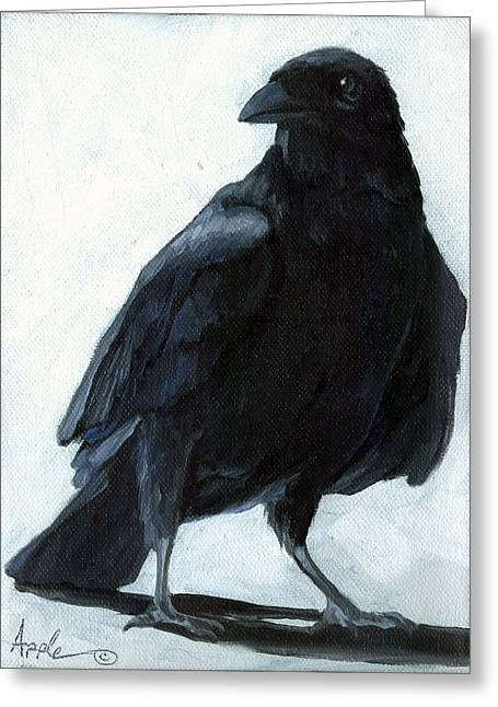 The Raven Greeting Card by Linda Apple