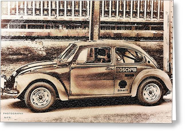 The Real Beetle Greeting Card by Nicole Frischlich