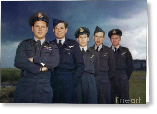 The Real Dambusters Greeting Card by Mary Bassett